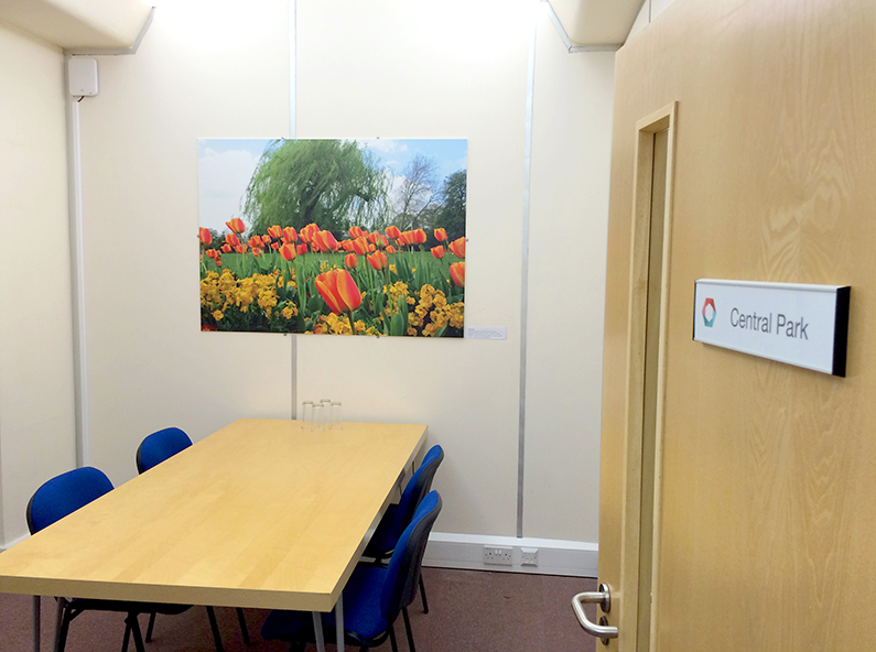 Central Park meeting room hire in Peterborough for up to 5 people